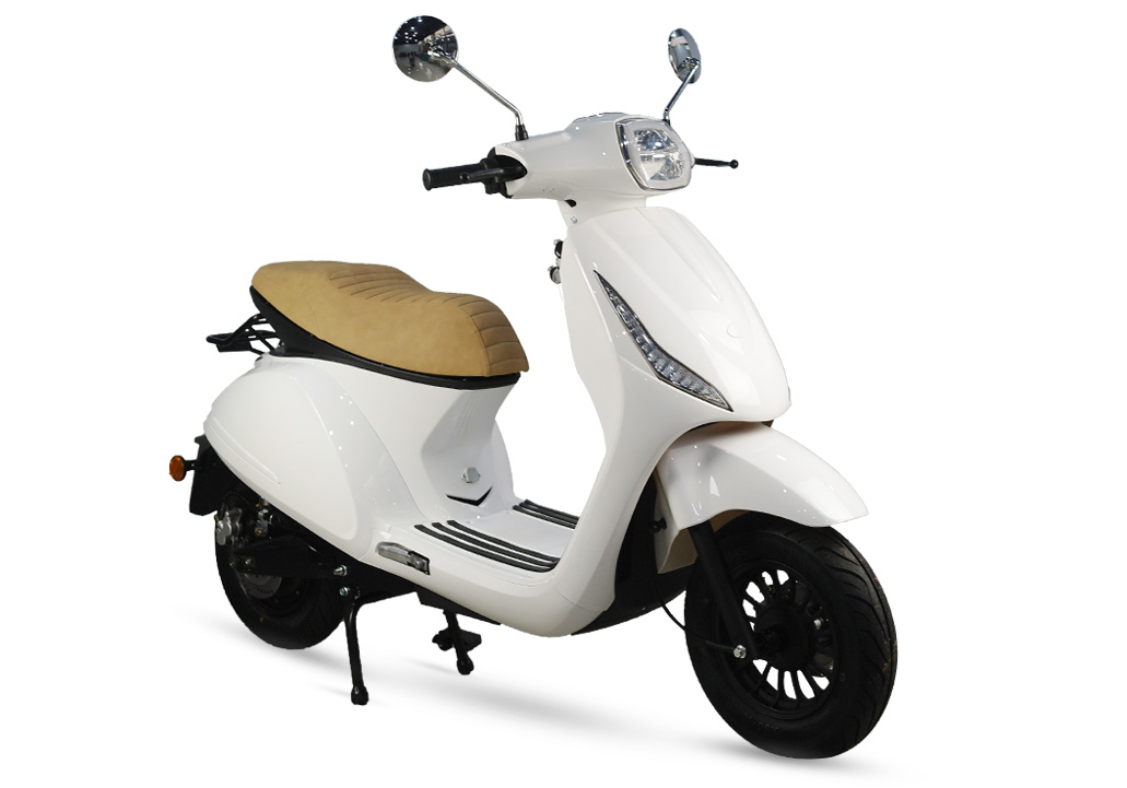 Scooter electrico blanco